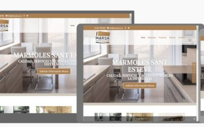 Marmoles Sant Esteve inaugura su nueva web y Redes Sociales